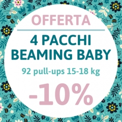 OFFERTA 4 pacchi Beaming Baby Pull-up 15-18 KG