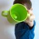 Tazza bambini ecologica biodegradabile con rana verde