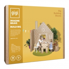 96 mattoni in cartone big GIGI Bloks