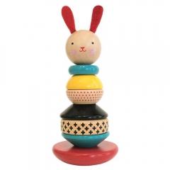 Coniglio impilabile in legno Petit Collage