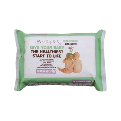 Salviette neutre bio all'Aloe Vera Beaming Baby