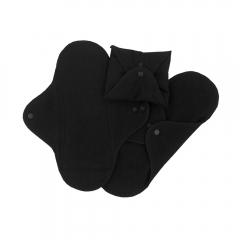 Assorbenti regular lavabili cotone bio neri