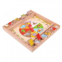 Animal Shut the Box gioco tavolo in legno