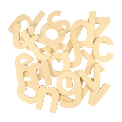 Sagome in legno lettere minuscolo Bigjigs